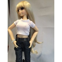 Angel long blond wig 02