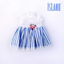 BRU blue white dress