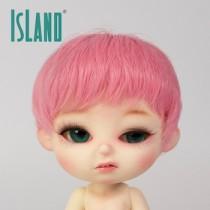 Island Bru, short pink wig