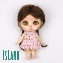 Island Bru, plait brown wig