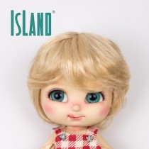 Island Bru, short blond wig