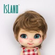 Island Bru, wavy mid brown wig