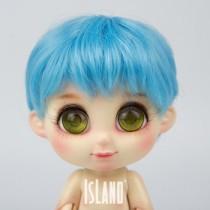 Island Bru, blue wig