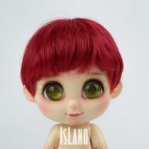 Island Bru, red wig