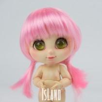 Island Bru, long pink wig