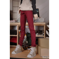 Luts SDF65 Color cotton spandex pants (Burgundy)