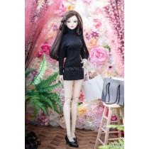 Luts SDF Corrugated pola cashmere dress (Black)