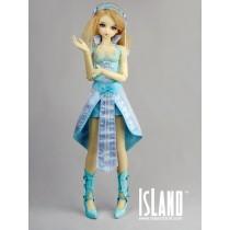 Island SD Blue heel shoes