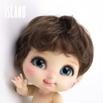 Island Bru, dark brown wavy wig